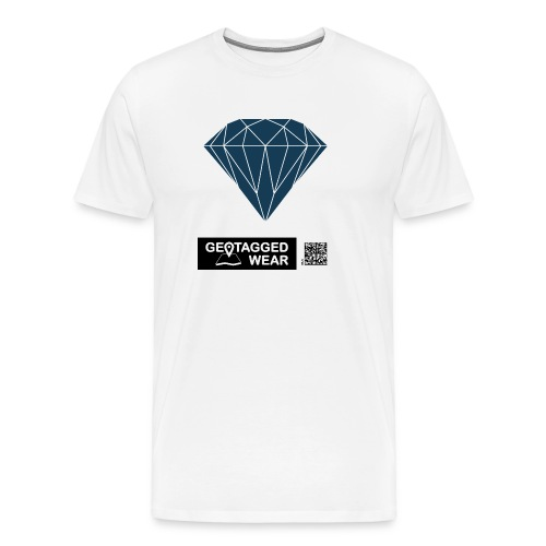 Men Diamond Pantone Sailor Blue - Männer Premium T-Shirt