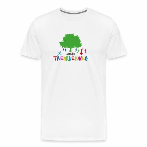 Schulkleidung Schule Trenknerweg buntes Logo - Männer Premium T-Shirt