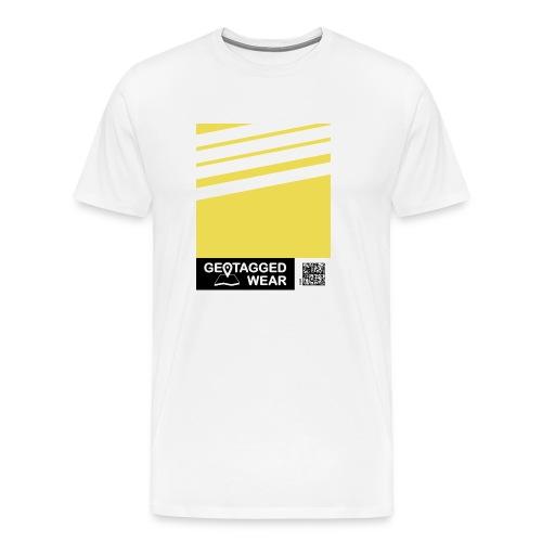 Unisex Stripes Pantone Trend S/S 18 Meadowlark - Männer Premium T-Shirt