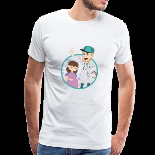Richtig Schwanger Logo - Männer Premium T-Shirt