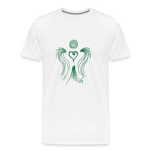 Herzengel grün - Männer Premium T-Shirt
