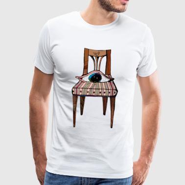 Oliver stol - Premium T-skjorte for menn