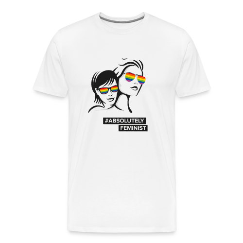 L-BEACH Rainbow Glasses - Männer Premium T-Shirt