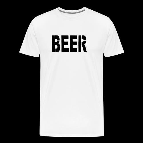 BEER Stencil Black - Männer Premium T-Shirt