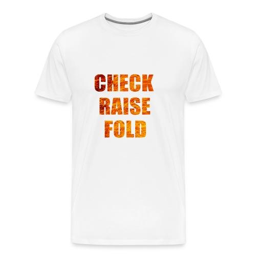Check Raise Shirt - Men's Premium T-Shirt
