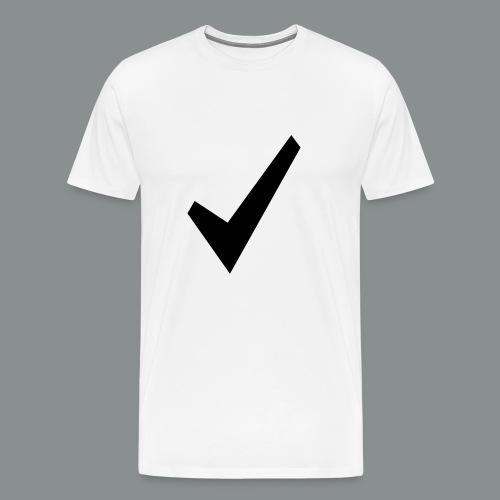 spunta nera - Maglietta Premium da uomo