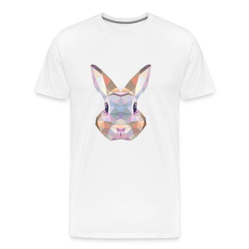 Triangle vector bunny - Maglietta Premium da uomo