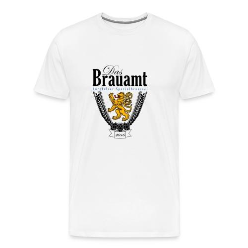 Brauamt Logo schwarz - Männer Premium T-Shirt