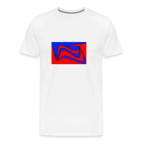 Blau Rot - Männer Premium T-Shirt