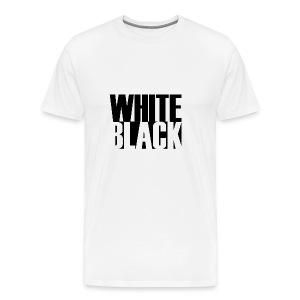 White, Black T-shirt - Mannen Premium T-shirt