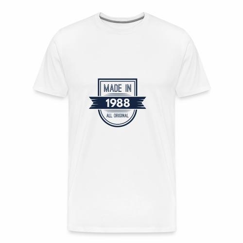 1988 blauw - Mannen Premium T-shirt