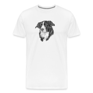border collie S - Herre premium T-shirt