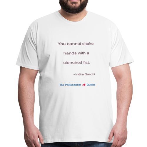 Indira Gandhi Shake hands b - Mannen Premium T-shirt