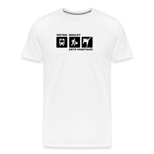 Metro Boulot Arts Martiaux - T-shirt Premium Homme
