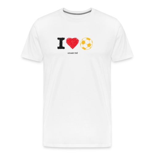 i love soccer - Männer Premium T-Shirt