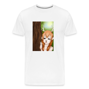 Womens tank: Deer-girl Design by Tina Ditte - Men's Premium T-Shirt