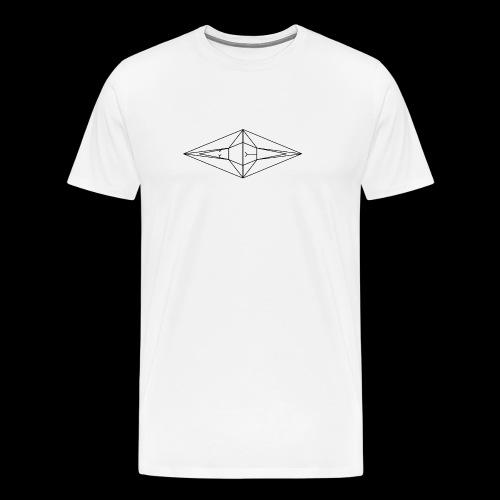Schwarz-Weiß Meo Logo - Männer Premium T-Shirt
