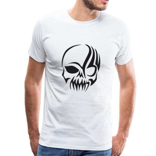 tribals skull - Männer Premium T-Shirt