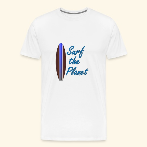 Surf the Planet - Männer Premium T-Shirt
