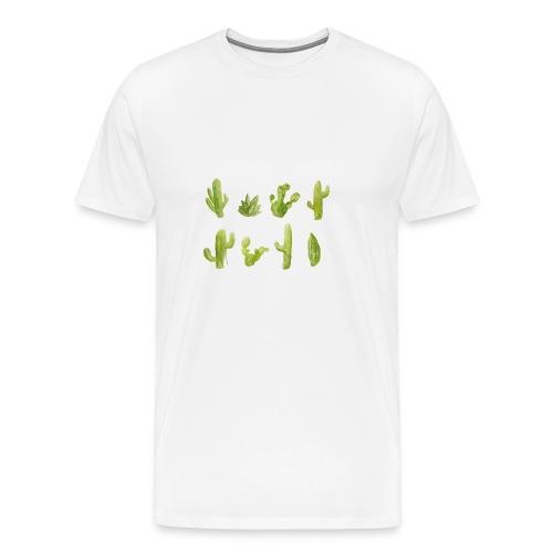 Cactus Design aquarelle - T-shirt Premium Homme