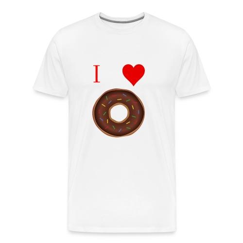 I ♥ donuts | T-shirt | Tiener/Man - Mannen Premium T-shirt