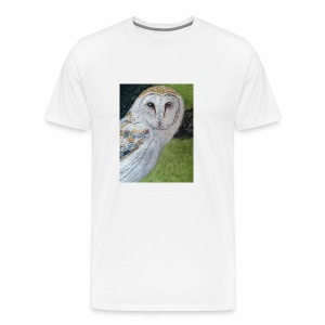 Curious Scottish owl - Men's Premium T-Shirt