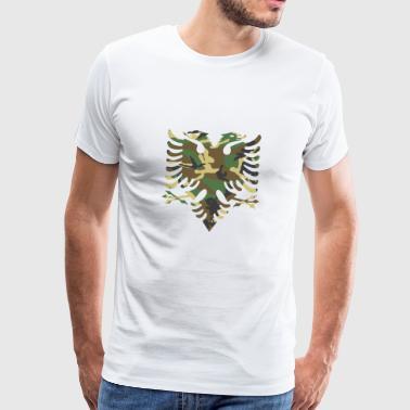 Albanische Flagge Camouflage Holz - Männer Premium T-Shirt