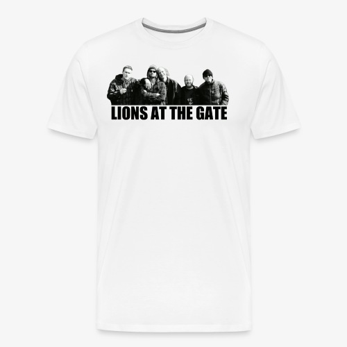 LIONS AT THE GATE SHIRT (WHITE) - Mannen Premium T-shirt
