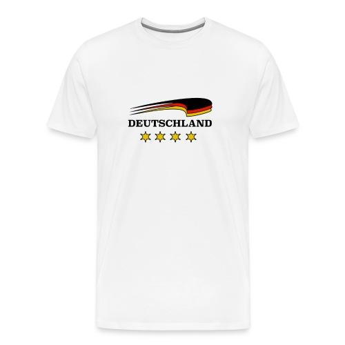Deutschland T-Shirt - Fußball! Tolle Geschenkidee - Männer Premium T-Shirt