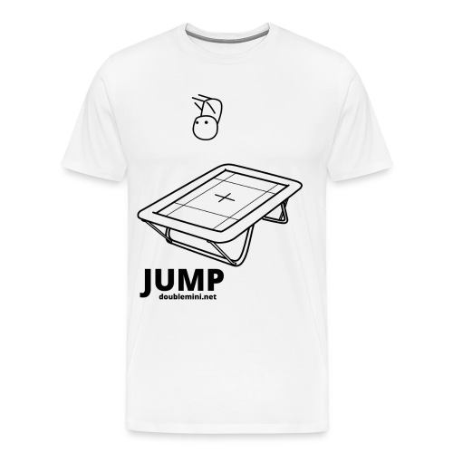 Trampoline JUMP shirt white - Men's Premium T-Shirt