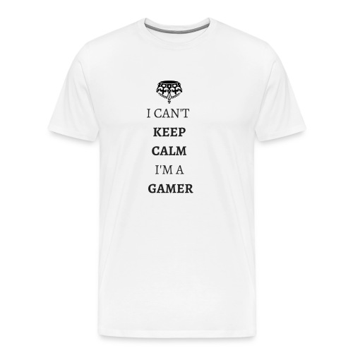 I CAN T KEEPCALMI M A GAMER NOIR - T-shirt Premium Homme