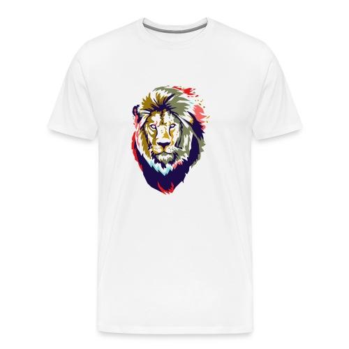 Farbiger Löwe - Männer Premium T-Shirt