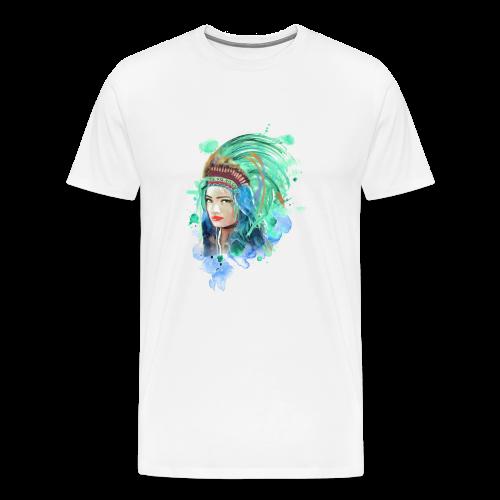 Indianerin - Männer Premium T-Shirt