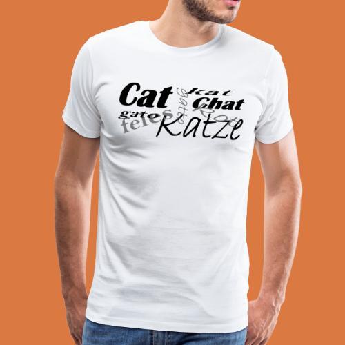 Katze in verschiedenen Sprachen - Männer Premium T-Shirt