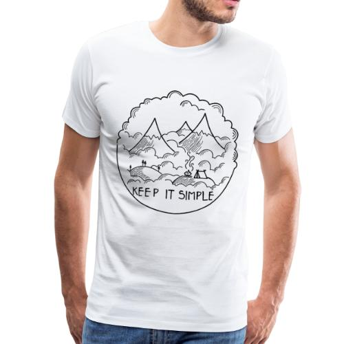 Keep it Simple Clouds Mountain Camping - Männer Premium T-Shirt