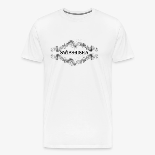 Swisshisha Logo schwarz auf weiss - Männer Premium T-Shirt