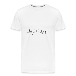 Youtube Heartbeat - Mannen Premium T-shirt