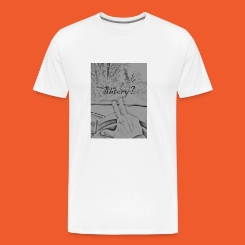 2 finger salute - Men's Premium T-Shirt