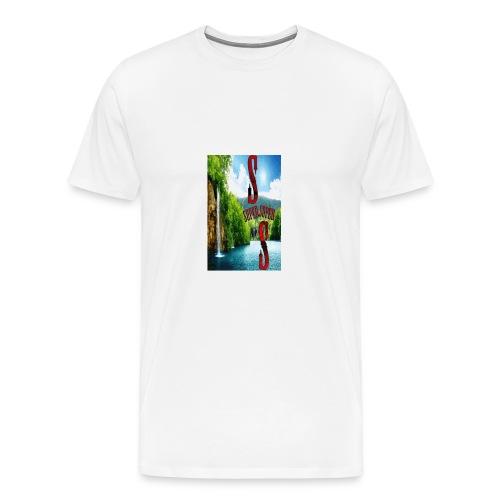 SUPER_cascata-gif - Maglietta Premium da uomo