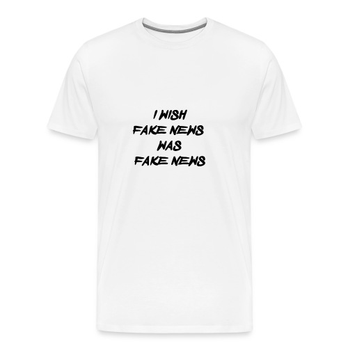 fake news black - Mannen Premium T-shirt