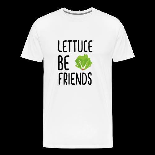 Lettuce Be Friends #lettuce #illustration #veggie - Männer Premium T-Shirt