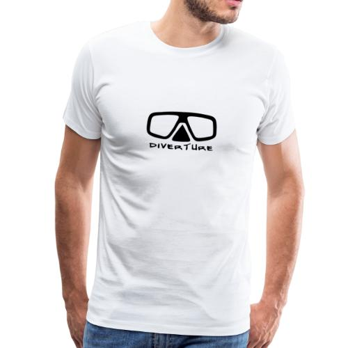 DIVERTURE Logo Tauchermaske (schwarz, Text) - Männer Premium T-Shirt