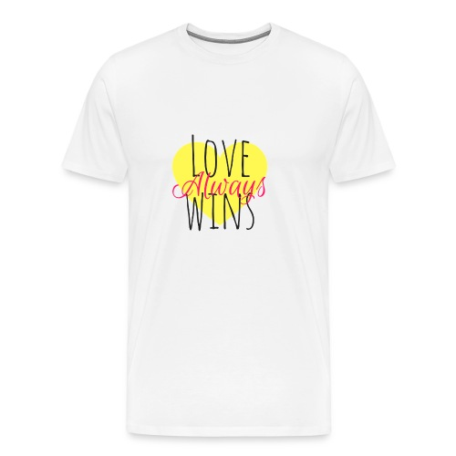 Love Always wins - Men's Premium T-Shirt