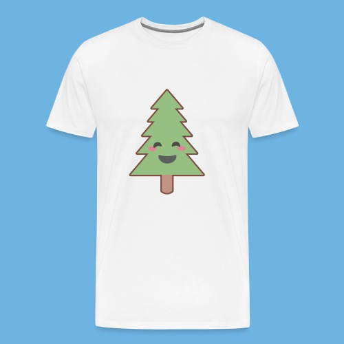 Kawaii Christmas Tree - Men's Premium T-Shirt