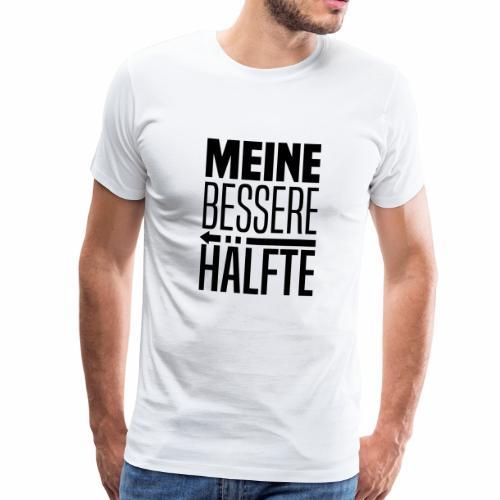 Bessere haelfte links - Männer Premium T-Shirt