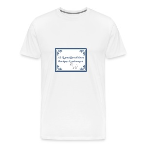Tegeltje-Geit - Mannen Premium T-shirt