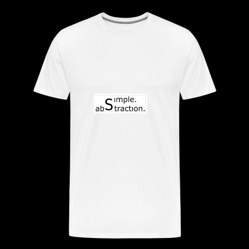 logo simple. abstraction. s/w - Männer Premium T-Shirt