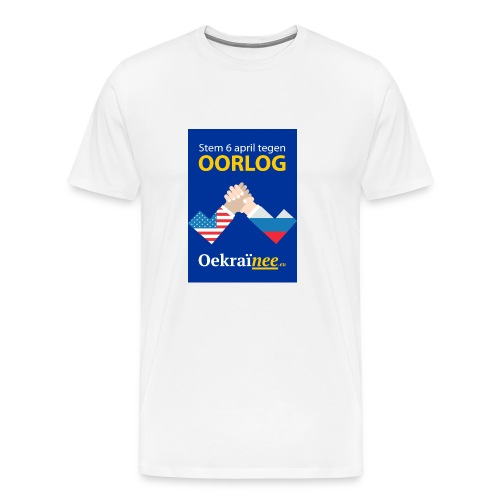 Oorlog-nee Shirt - Mannen Premium T-shirt