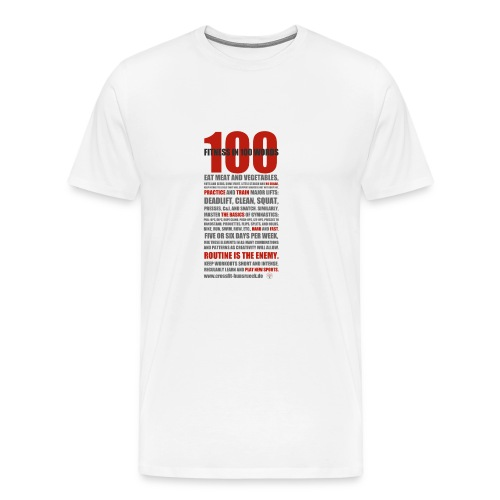 100 WORDS light shirt - Männer Premium T-Shirt