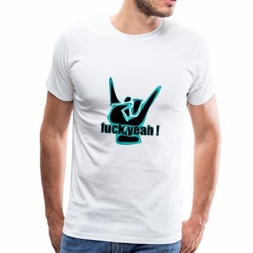 fuck yeah black - Camiseta premium hombre
